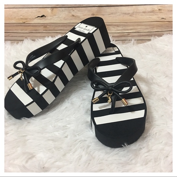 e52e4420db71 kate spade Shoes - NWOB Kate Spade Rhett Stripe Wedge Sandals
